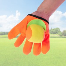 outdoor toys Sports Game Throw Kids Playing Gloves Set Sticky Mitts Catch Balls Toy(China)