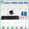 40W Portable Folding Solar Panel charger with dual output controller for 18V Laptop & 5V mobile phones ,iPads