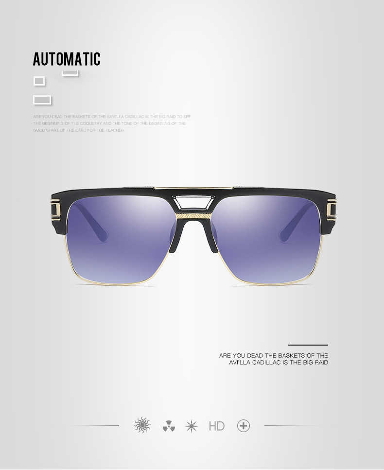 bd17fd862 ... 2019 hot-selling steampunk double-beam men sunglasses Women retro  square MACH High quality ...