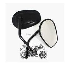 Пара Мотоциклов Зеркала Овальной 8 мм Нить Заднего Вида Боковые Зеркала для HARLEY DAVIDSON VRSCAW V-ROD FLTRU ДОРОЖНОГО GLIDE УЛЬТРА