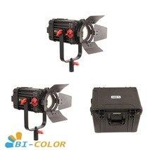 2 pces CAME TV boltzen 100w fresnel focusable led kit bicolor led luz de vídeo