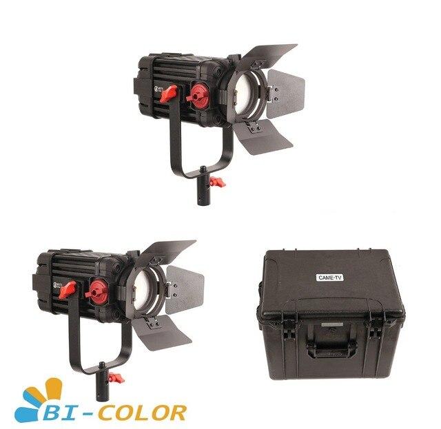 Boltzen Kit de luz LED bicolor, 2 uds., CAME TV, 100w, Fresnel, enfocable, para vídeo