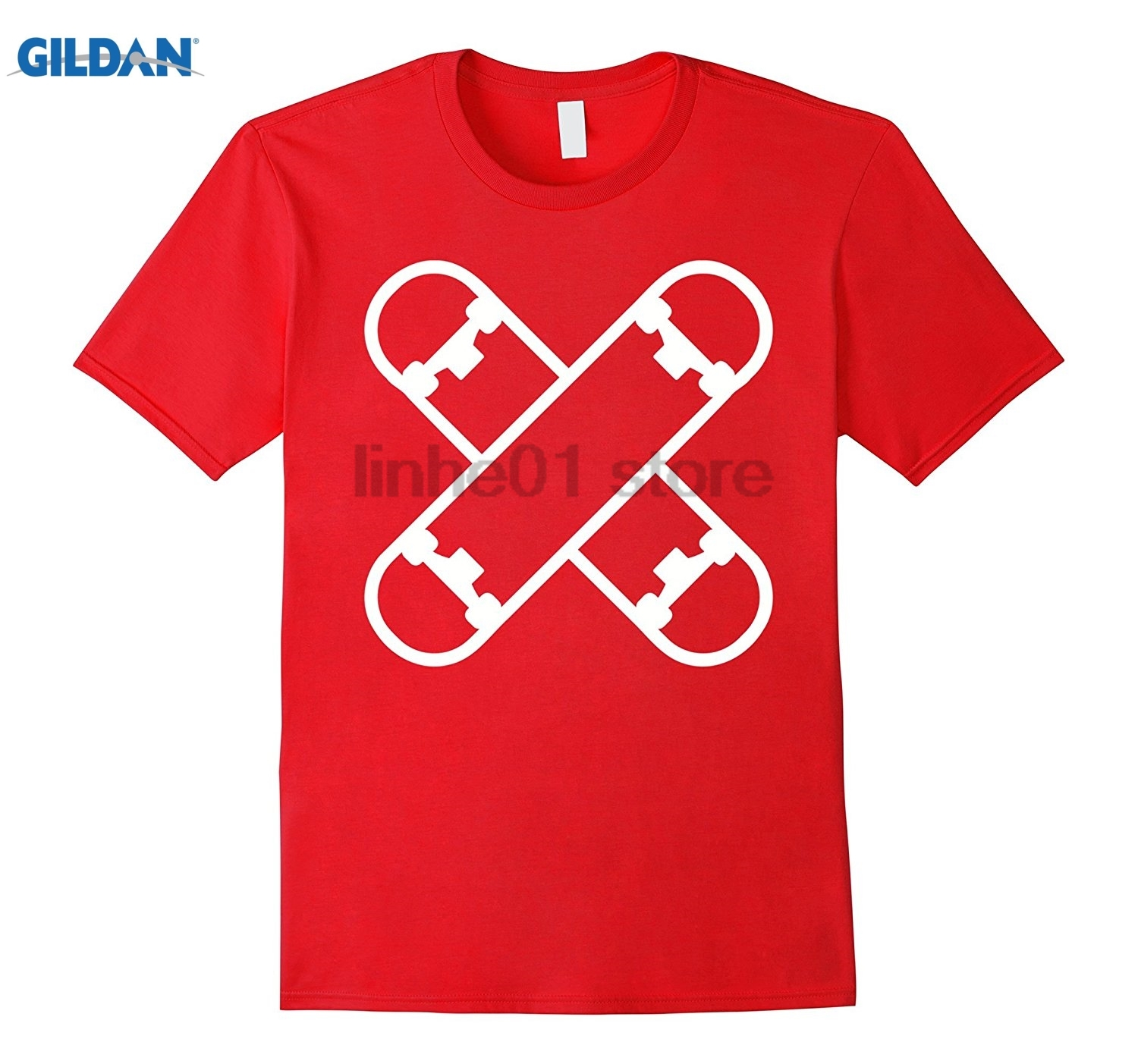 GILDAN Crossed skateboard decks T-Shirt sunglasses women T-shirt