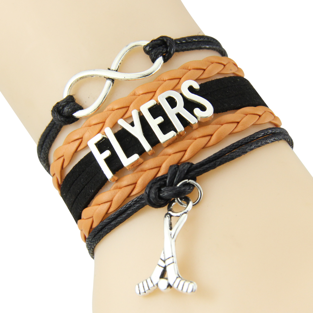 Chain Bracelet Infinite Love FLYERS Black Orange Cord Golf Dropshipping