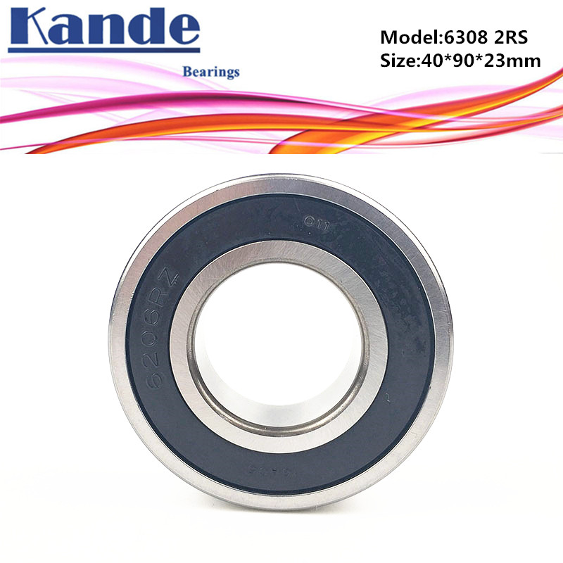 6308 2RS 1pc ABEC-5 6308 2RS Single Row Deep Groove Ball Bearing 40x90x23 mm 6308 RS Bearing 2018 hot sale time limited steel rolamentos 6821 2rs abec 1 105x130x13mm metric thin section bearings 61821 rs 6821rs