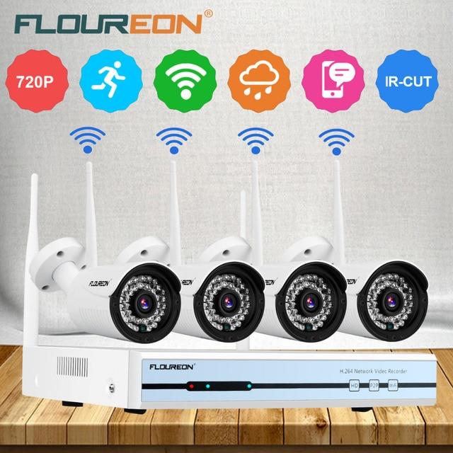 Floureon 4CH 1080 p HDMI Wireless WLAN CCTV DVR NVR 4 WiFi Drahtlose ...
