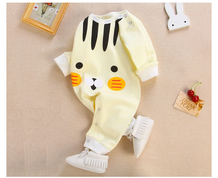 2017 new childrens clothes baby cotton jumpsuit newborn cartoon climbing clothes harem clothes home wear
