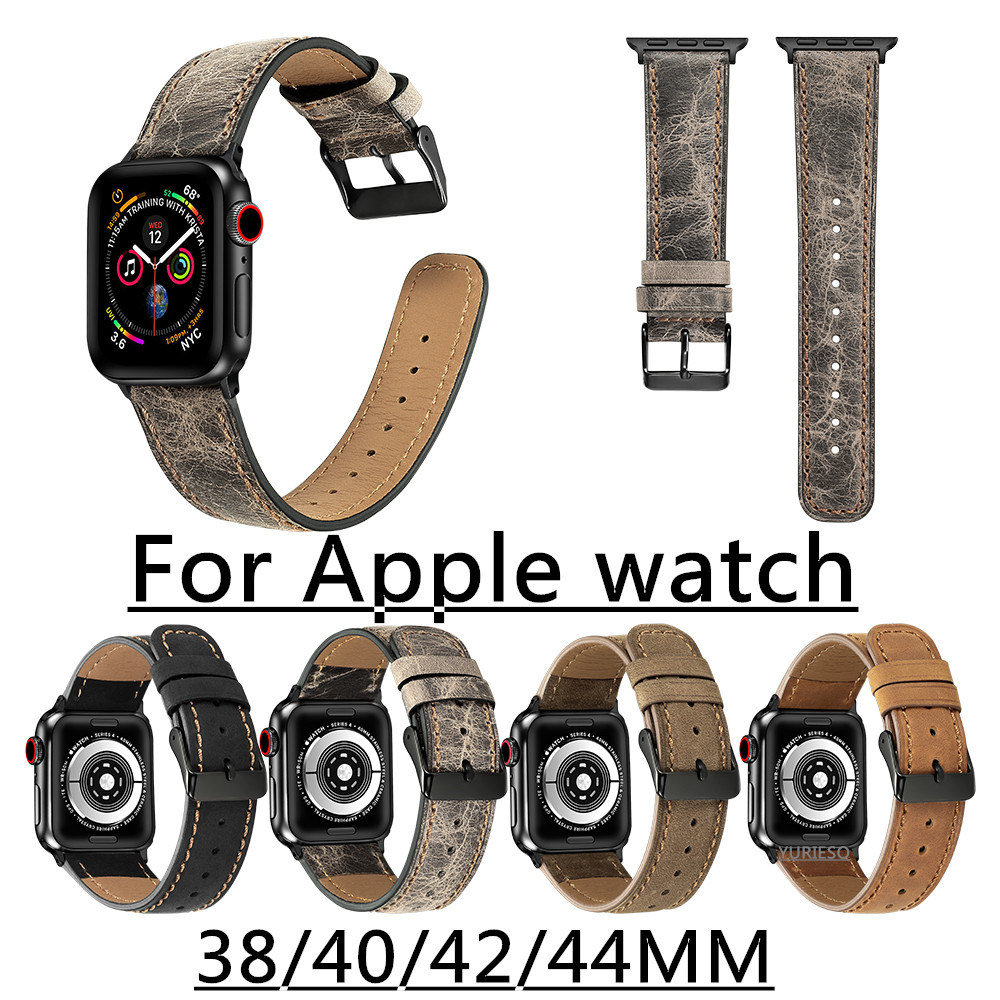 10pcs strap for apple watch band Genuine leather loop 42mm 38mm watchband for iwatch 44mm 40mm