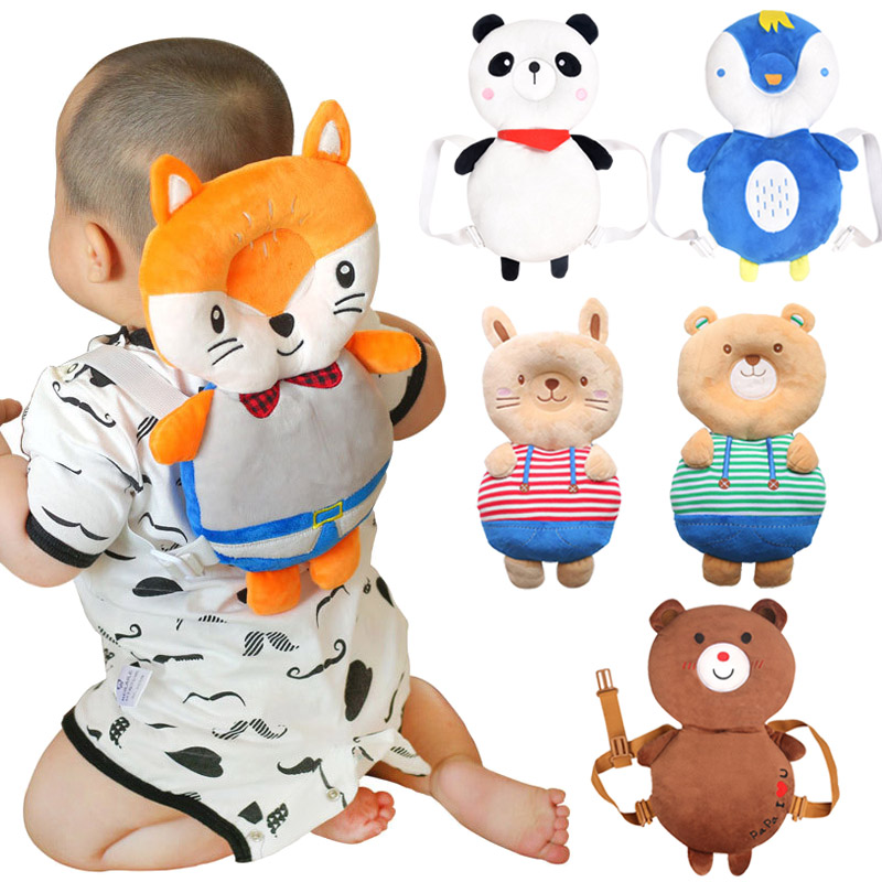 Baby Head Protective Pad Cartoon Animal Toddlers Pillow Infant Learning Walk Safety Cushion M09 противоскользящие полоски safety walk цвет серый 6 шт