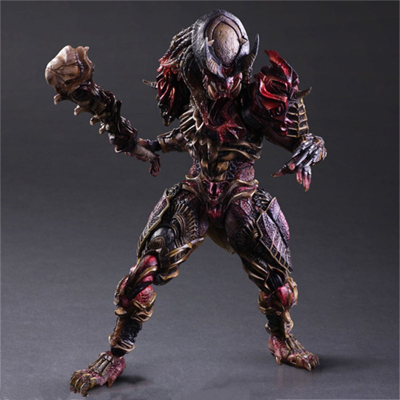 PlayArts KAI Aliens vs Predator Predator/Alien Hunter PVC Action Figure Collectible Model Toy 27cm ACAF010 neca alien lambert compression suit aliens defiance xenomorph warrior alien pvc action figure collectible model toy 18cm