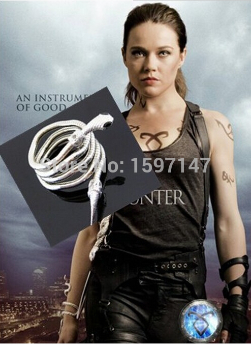 City of Bones Isabelle Lightwood's Electrum WhipSerpent Bracelet Bransoletka Mortal Instruments