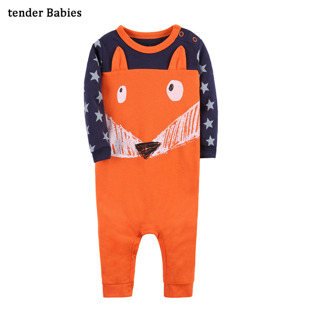 b67c8e995 Fox Baby Romper Newborn cotton Baby Boy girl Clothes Cute Animal Clothing  Children One Piece Fashion 3 Styles Rompers 1pcs