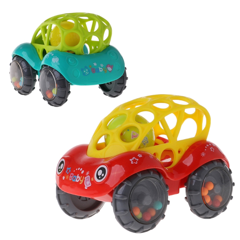 Baby Infant Rattle Roll Car Toy Soft Flexible Sounds Perfect Teething Kids Play