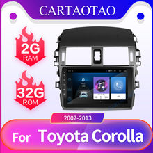 "9 2 DIN ""Android 8.1GO Car Radio GPS Navigation WiFi Car Radio Video Player Multimídia para Toyota Corolla E140 /150 2006-2013 car(China)"