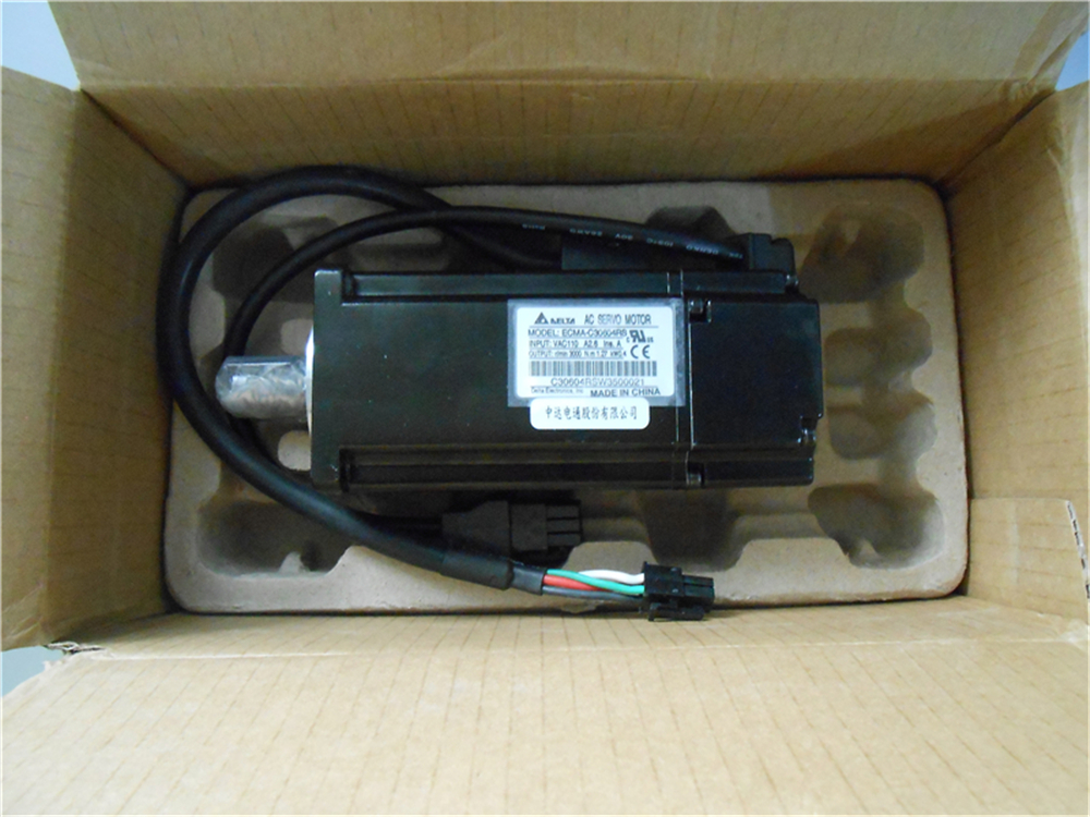 Delta 60mm 0.4KW 400W CNC Servo Motor AB Series ECMA-C30604RS AC 220V 3000rpm with Keyway & Oil Seal New delta cnc 100w ac servo motor drive kits system 220v 0 32nm 3000rpm 40mm with oil seal