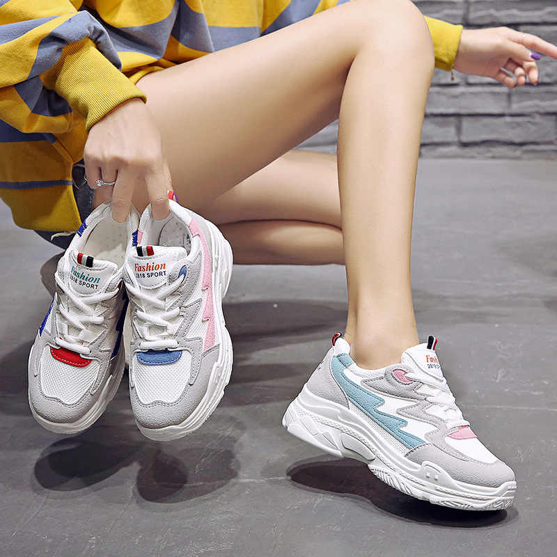 Las mujeres calzado deportivo cómodo Zapatos De zapatillas De cuña con plataforma De cuñas Zapatos para Mujer Zapatos De Mujer Zapatos casuales Zapatos