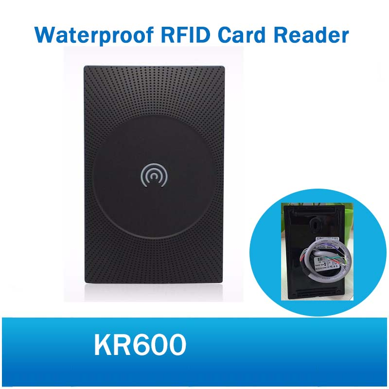 ZKTeco KR600 125KHZ RFID Card Reader Wiegand26 Smart Card Access Control Reader IP65 Waterproof Card Access Control Reader free shippinf 4pcs ip65 waterproof 125khz rfid card reader weigand 26 card access control reader with led light and beep kr200