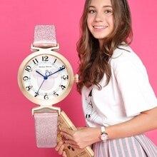 Disney Rhinestone Leather Strap Quartz Digital Watch