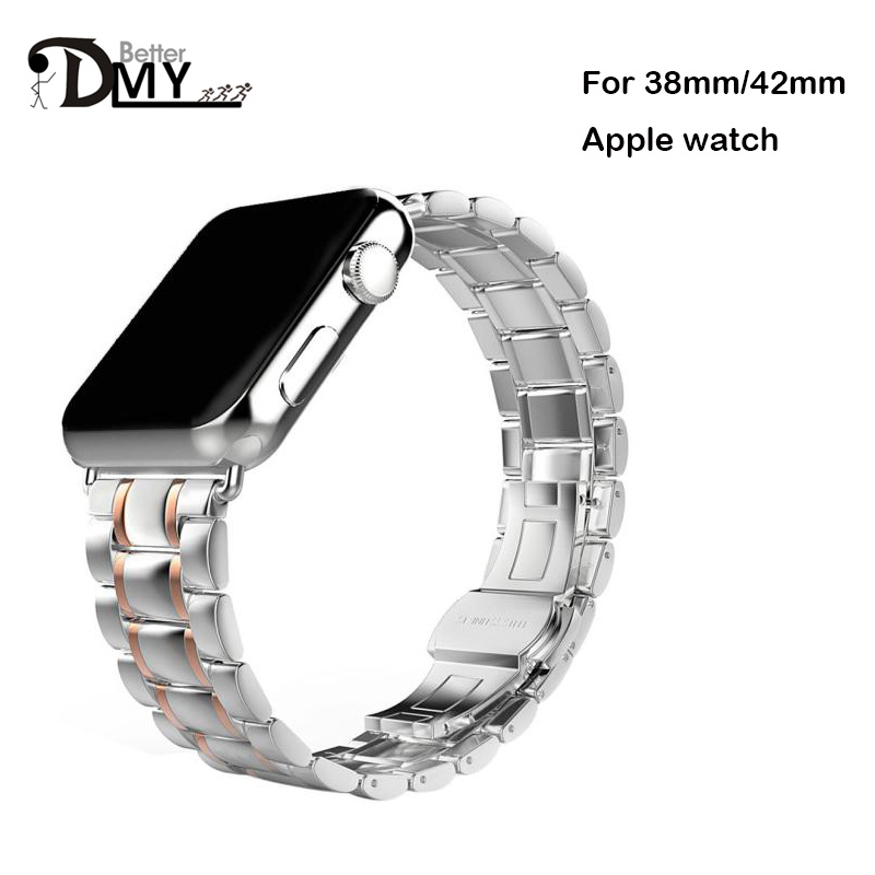 2017 Luxury watchband straps 42mm metal stainless steel Apple watch band link bracelet 38mm black gold Silver  -  Better Than Co.,Ltd store