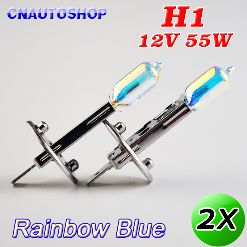 hippcron h1 halogen bulbs rainbow ion blue 2pcs 12v 55w 3700k 1700lm auto headlight car fog lamps quartz glass Hippcron H1 Halogen Bulbs Rainbow(ION) Blue 2Pcs 12V 55W 3700K 1700Lm Auto HeadLight Car Fog Lamps Quartz Glass