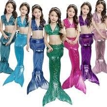 Disfraz De Cola De Sirena para niña, disfraz De natación para chico, Zeemeerminstaart, Cola De Sirena, Cauda De Sereia, Cosplay, 3 piezas