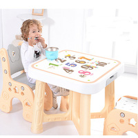 Children Furniture Table and Chair Kids Plastic Dining Set Korean Style Minimalist Modern Dormitorio Infantil Desk for Study