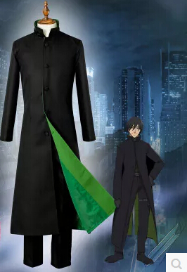 Business Trench Coat Jacket Darker Than Black Hei Cosplay Costume Outfit Suit