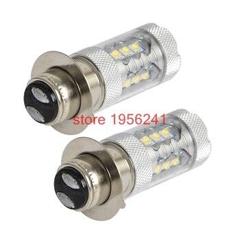 2 uds 80W Super bombillas de faros LED para Yamaha YFM350 YFM400 YFM600 Guerrero 350 TTR250 YFS200 Blaster 200 Raptor 125, 250 700R