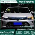 V55 AKD Styling Car LED DRL para Toyota Camry 2014-2015 Camry novo Eye Brow Luz LED Estacionamento Sinal de Luz Externa acessórios