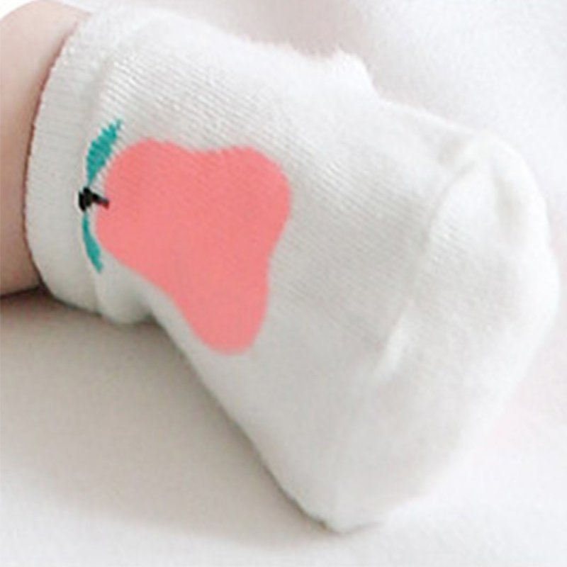 Newest Boys Baby Infant Girl Ankle Socks Pear Print Cotton Anti-slip Socks S M