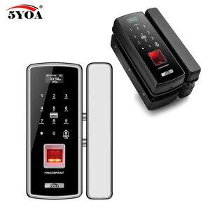 Image 3 - แก้วล็อคลายนิ้วมือดิจิตอลประตูล็อคอิเล็กทรอนิกส์สำหรับ Home Anti   theft รหัสผ่านอัจฉริยะ RFID Standalone เปิดสมาร์ท