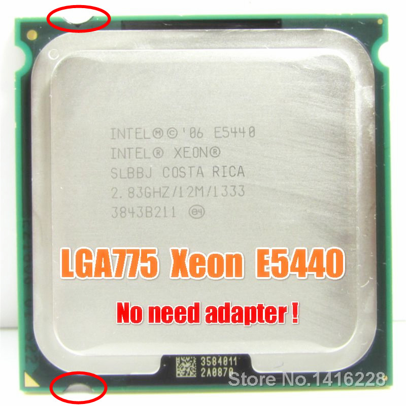 Xeon E5440 Processor 2.83GHz 12M 1333MHz SLANS SLBBJ close to LGA775 Core 2 Quad Q9550 cpu Works on LGA 775 motherboard(China)