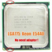 Funciona en LGA 775 placa madre no necesita adaptador Xeon E5440 Procesador (2.83 GHz/12 M/1333 MHz) cerca de LGA775 Core 2 Quad Q9550 cpu