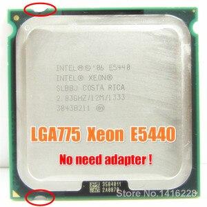 Image 1 - Xeon E5440 Processor 2.83GHz 12M 1333MHz SLANS SLBBJ close to LGA775 Core 2 Quad Q9550 cpu Works on LGA 775 motherboard
