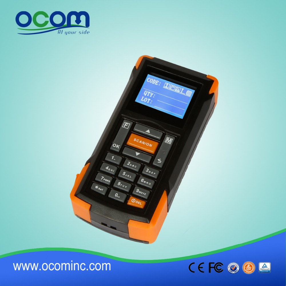 OCBS-D105: Portable Mobile Bluetooth Barcode Scanner With Memory and Screen