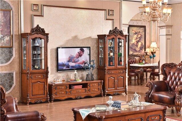 PORTA TV Mobili Antichi Soggiorno Americano Cabinet In Legno ...
