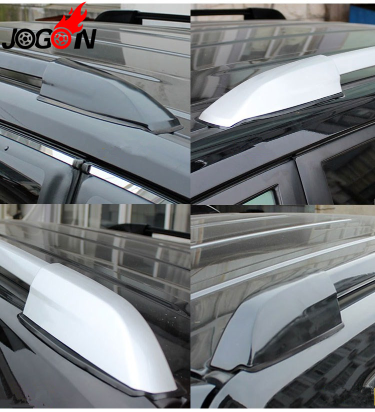 ITrims Silver Car Roof Rack Rail End Cover Shell Cap Replacement 4PCS for Toyota Highlander XU40 2008-2013