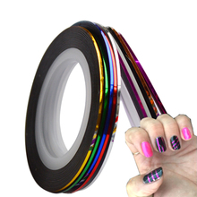 Hot Sale 10pcs/lot Striping Tape Line Nail Art Sticker Decoration DIY Decals UV Gel Acrylic Nail Tips SANC391