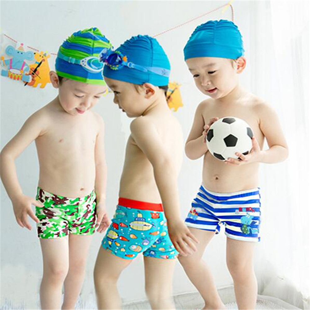 Детские пляжные брюки Multi-Цвет мультфильм печати милый мальчик угол пляжные детские штаны Играя с штаны воды Краб Рыба ...