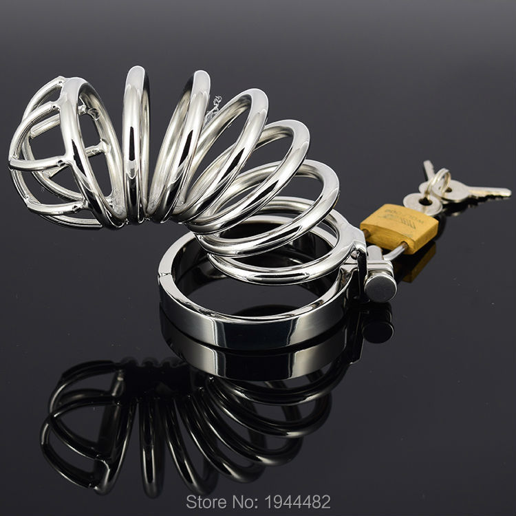 ФОТО Long Male Chastity Device Cock Cage, Men's Virginity Lock, 5 size Penis Ring selection, Chastity Belt Stainless Steel Adult Game