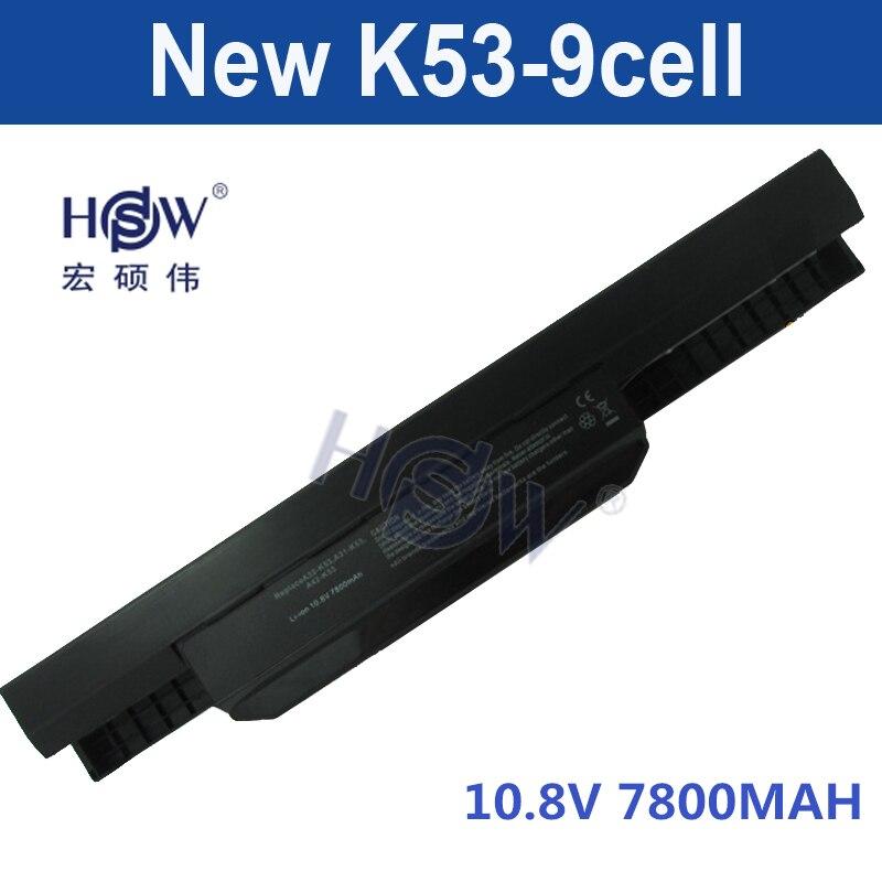 HSW 9cell laptop battery for Asus A32 k53 A42-K53 A31-K53 A41-K53 A43 A53 K43 K53 K53S X43 X44 X53 X54 X84 X53SV X53U X53B X54H