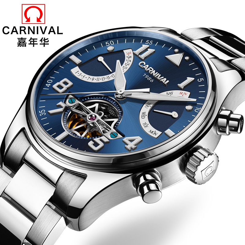 Switzerland Carnival Brand Luxury Mens Watches Multi-function Watch Men Sapphire reloj hombre Luminous relogio Clock C8783-3 wrist switzerland automatic mechanical men watch waterproof mens watches top brand luxury sapphire military reloj hombre b6036