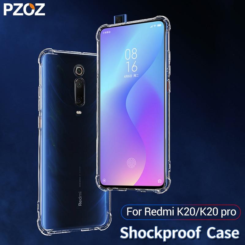 US $1 99 60% OFF|PZOZ For xiaomi Redmi K20 pro case Cover Silicone  shockproof Redmi K20 7A Transparent Clear Protective xiaomi mi A2 A3 mi 9t  8-in