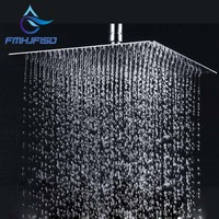 Free Shipping Wholesale And Retail Polished Chrome Finish Bathroom Square Rain Shower Head Ceiling Wall Top
