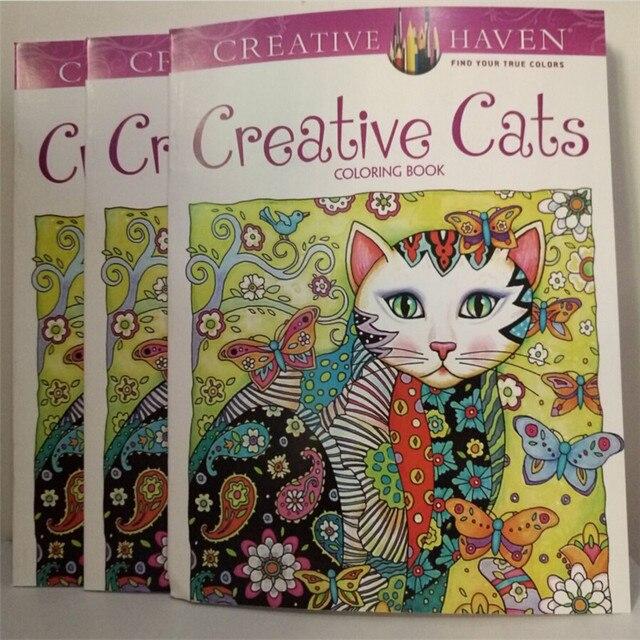 Refugio creativo Creativo Gatos Libros Para Colorear Para Adultos 24 ...