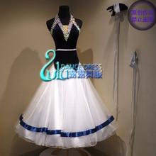 ee935032f3a2 Women swing tango waltz Smooth us 8 dance competition dress Gradation ballroom  dance dress Velvet fabric ballroom dance dress