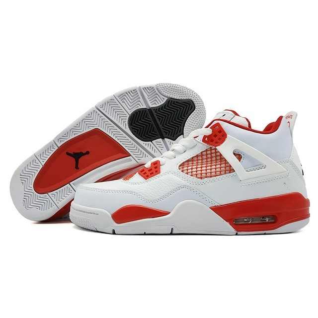 cf10ec00010 ... AIR US JORDAN 4 Man Basketball Shoes Motorsport Raptor Black Red Toro  oreo Athletic Sport Sneakers