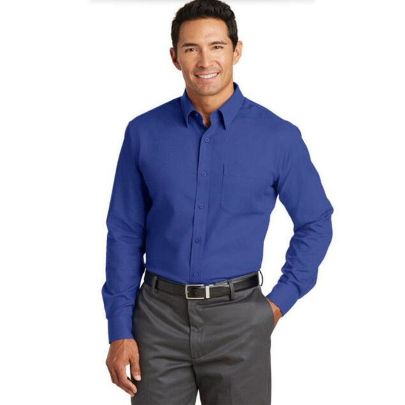 Hot sale man shirt royal blue formal occasion custom for Blue dress shirt outfit