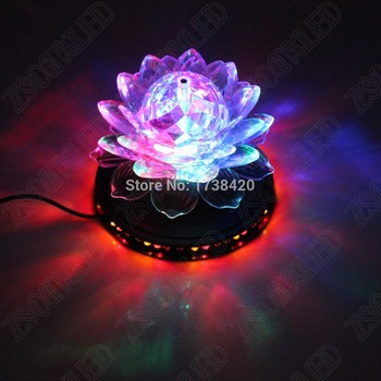 3W Rotating RGB 48leds Sunflower LED Stage Lighting Effect Laser Projector 110V 220V For Party Bar DJ Disco party show lamp