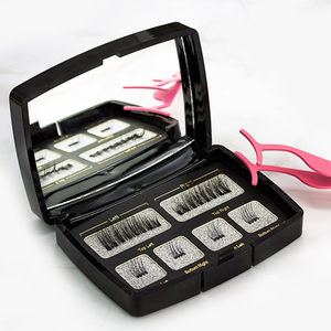Image 3 - 6Pcs Magnetic Eyelashes Invisible Magnetic Lashes Mink Eyelashes With Tweezers 3D Mink Lashes Thick Full Strip False Eyelashes